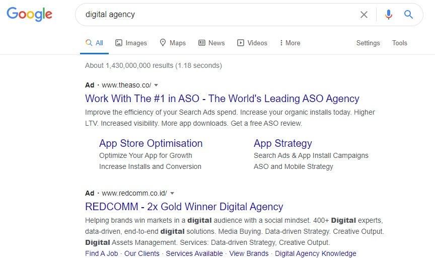 Fitur SERP Iklan Google Ads