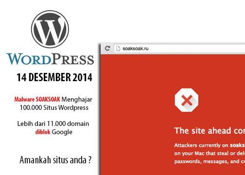 100.000+ Situs WordPress Terserang Malware, 11.000+ Domain diblok oleh Google