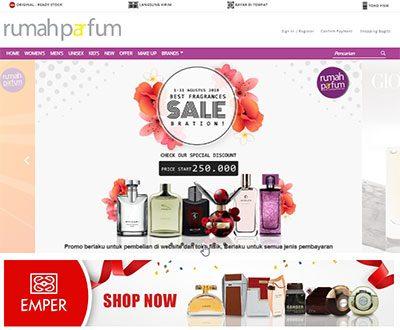 Portofolio Client Website Rumah Parfum