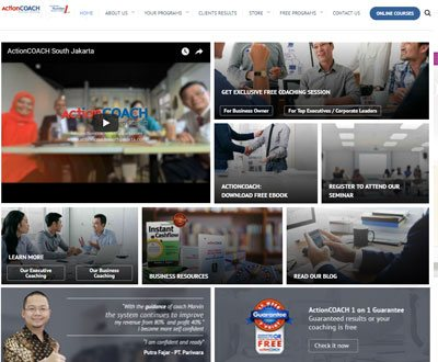 Portofolio Client Website ActionCoach Jakarta