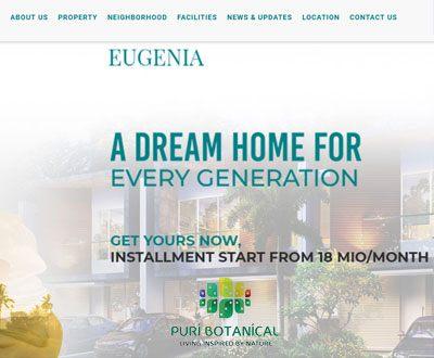 Portofolio Client Website Puri Botanical